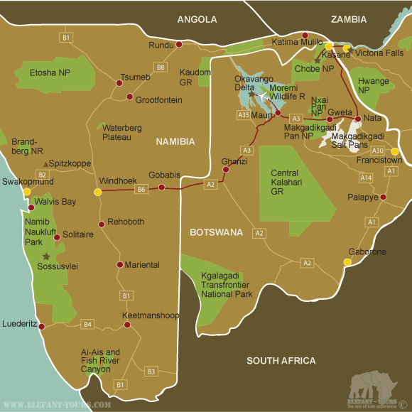 Map Okavango-Delta-and-Chobe-National-Park