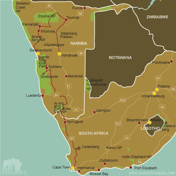 Map Experience-Namibia