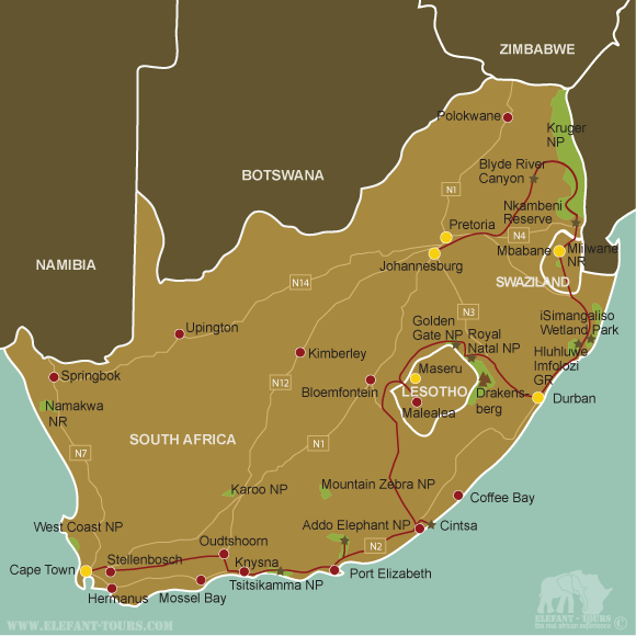 Map Explore-South-Africa