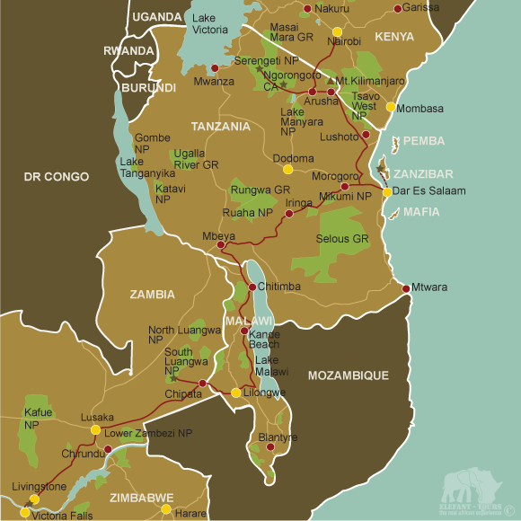 Map Central-and-East-Africa-Overland
